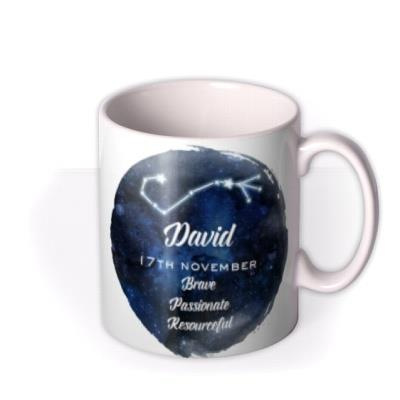 Youre A Star Personalised constellation Mug Scorpio