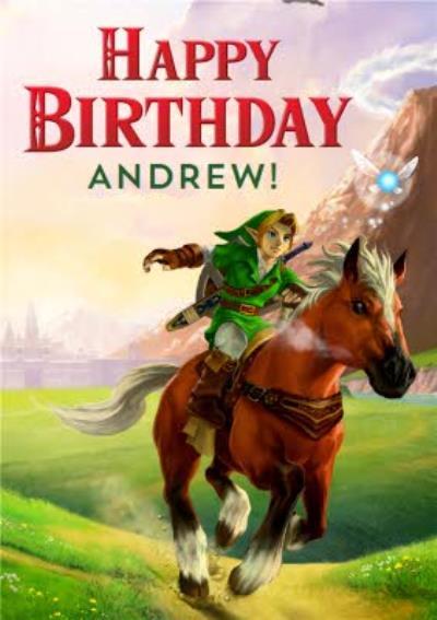Nintendo The Legend of Zelda Birthday Card