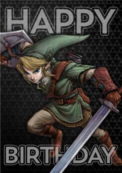Nintendo The Legend of Zelda Twilight Princess Birthday Card