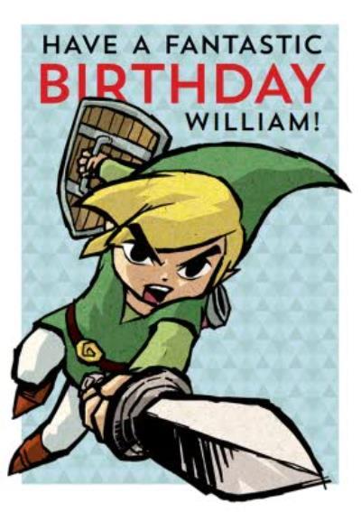 Nintendo The Legend of Zelda Link Birthday Card