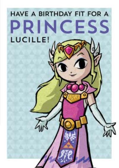 Nintendo The Legend of Zelda Princess Birthday Card