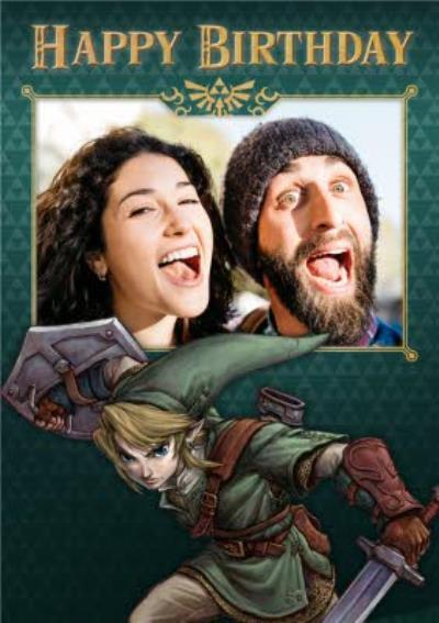 Nintendo The Legend of Zelda Twilight Princess Photo Upload Birthday Card