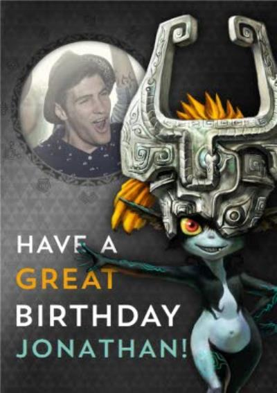 Nintendo The Legend of Zelda Midna Photo Upload Birthday Card