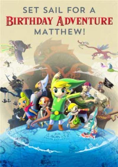 Nintendo The Legend of Zelda Wind Waker Birthday Adventure Card