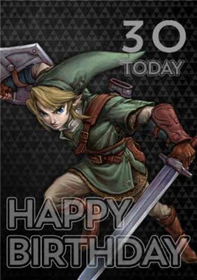Nintendo The Legend of Zelda 30 Today Customisable Birthday Card