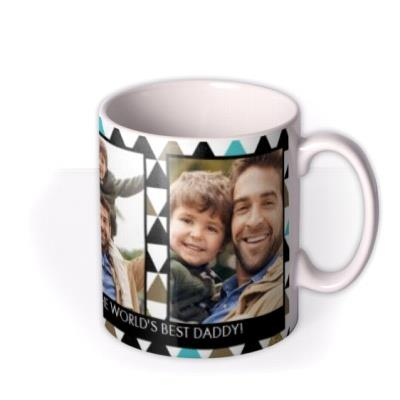 Father's Day Best Daddy Funk Triangle Photo Upload Mug