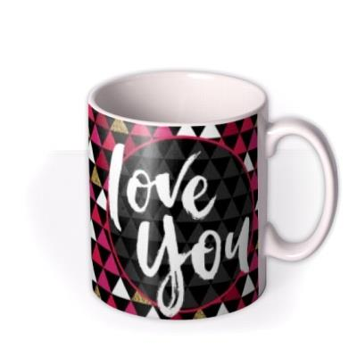 Valentine's Day Funky Love You Photo Upload Mug