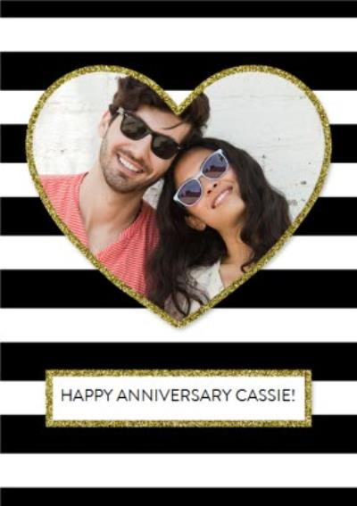 Photo Personalised Anniversary Card
