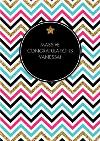 Colourful Zig Zags Personalised Congratulations Card