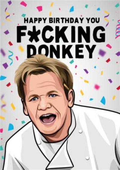 Happy Birthday You Donkey Tv Card