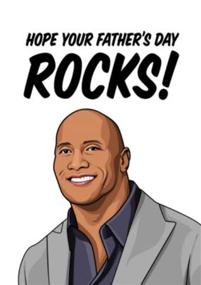 Hope Your Fathers Day Rocks Card
