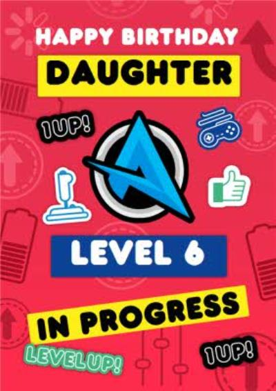 Ali A Level 6 Unlocked Gaming Age 6 Birthday Card For Your Daughter
