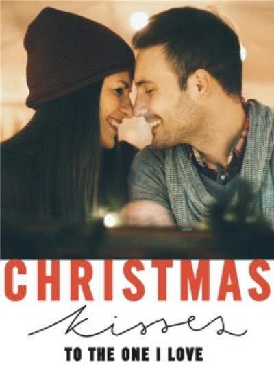 First Christmas Together Polka Dot Photo Upload Card