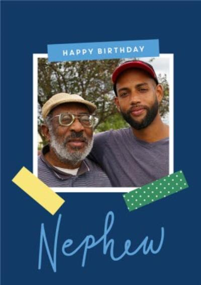 Nephew Photo Upload Birthday Card