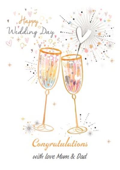 Happy Wedding Day - Congratulations Champagne