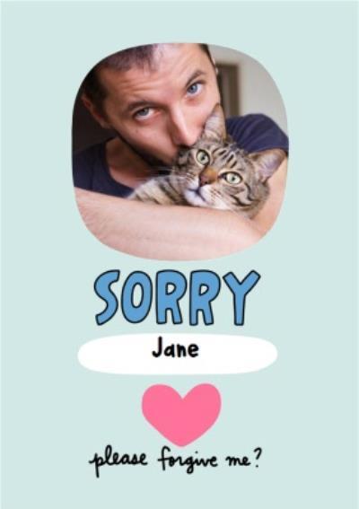 Sorry Please Forgive Me Photo Upload Card