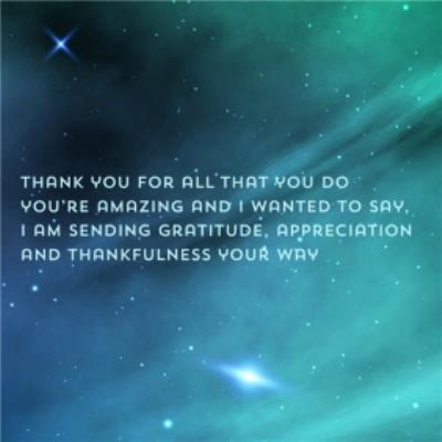 Thank You For All That You Do Stars Gratitude Thank You Card