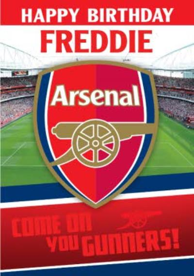 Arsenal FC Birthday Card - Come on you gunners!