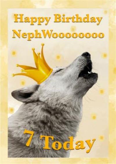 Alex Sharp Photographic Of Wolf Male 7th Birthday Card
