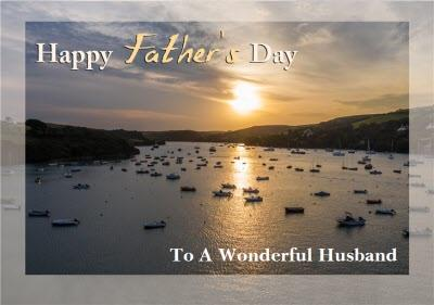 Photo Of The Sea Wonderful Husband Father's Day Card