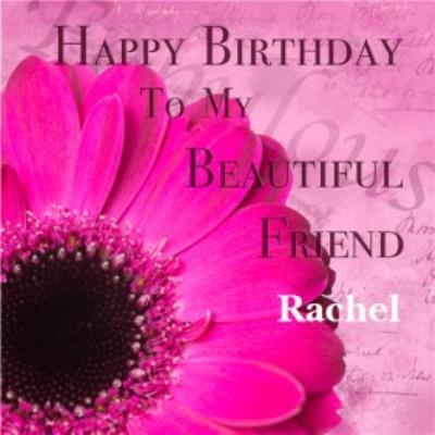 Alex Sharp Photography Beautiful Friend Pretty Floral Birthday Card