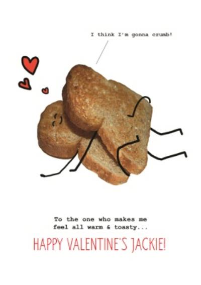 Personalised Funny Toast Valentines Day Card