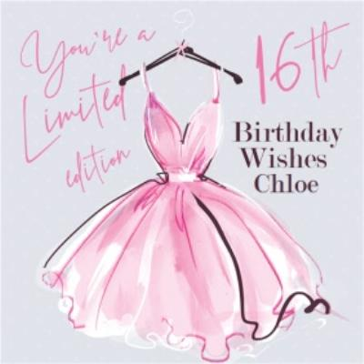 Fashion Illustration You're A Limited Edition 16th Birthday Wishes Card