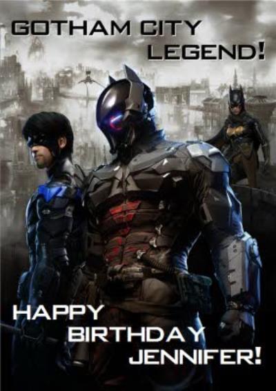 DC Batman Arkham Knight Gotham City Legend Birthday Card