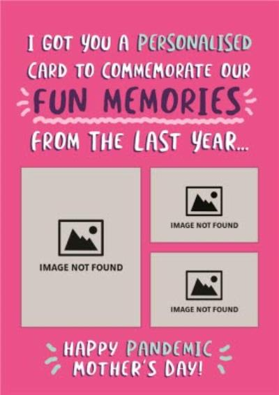 Funny Covid Memories Happy Pandemic Mother's Day Card