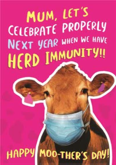 Funny Covid Herd Immunity Mother's Day Card
