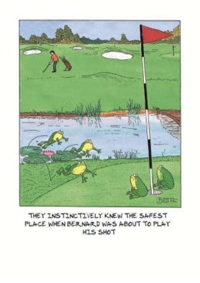 Personalised Golf Birthday Card