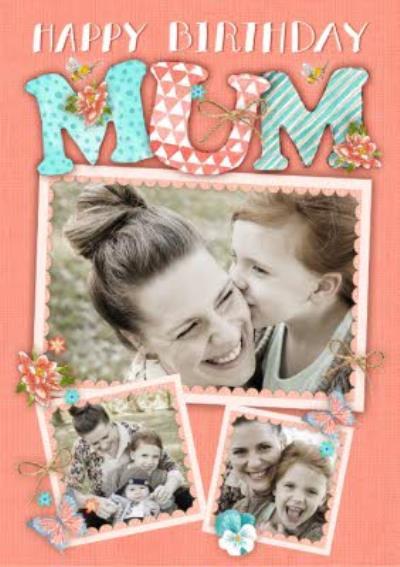 Photo Birthday Card For Mum