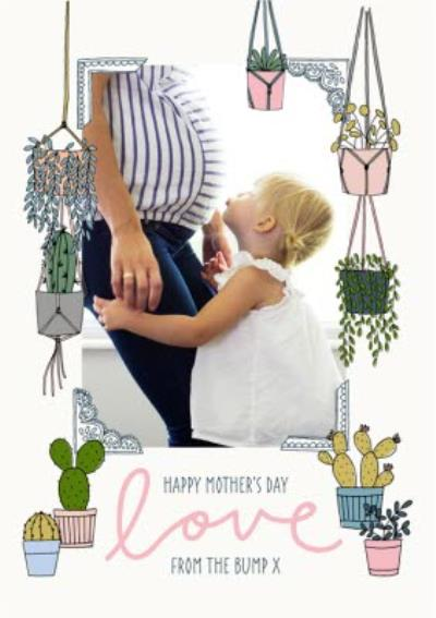 Mother's Day card - from the bump - photo upload plants