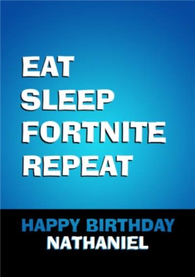 Gaming Eat Sleep Repeat Happy Birthday Card