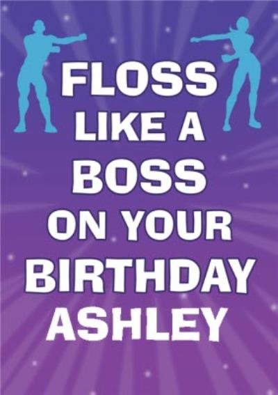 Gaming Floss Like A Boss On Your Birthday Card