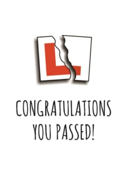 Typographical Congratulations You Passed Card