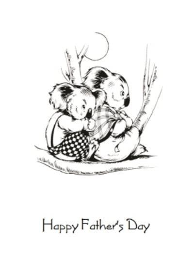 Blinky Bill With Mrs Koala Personalised Happy Father's Day Card