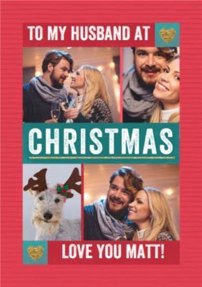 To My Husband At Christmas Photo Upload Card