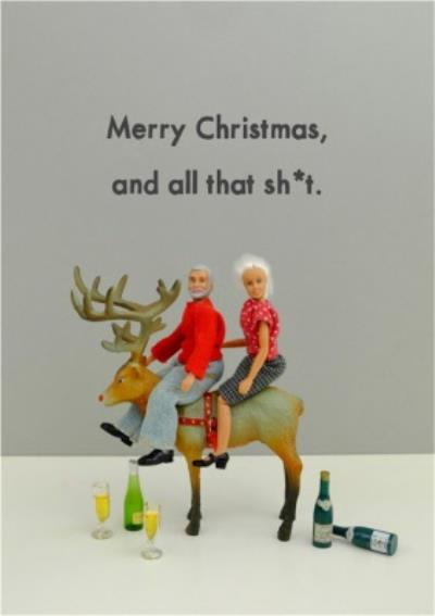 Funny Dolls Merry Christmas And All That Card