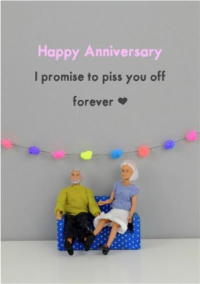 Funny Dolls Happy Happy Anniversary Promise Rude Card