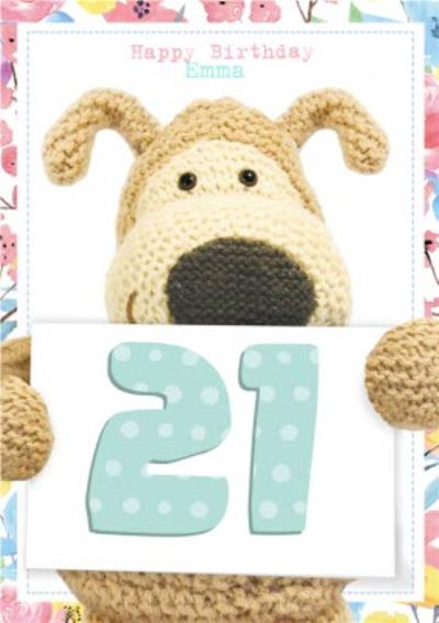 Boofle Personalised 21St Birthday Card