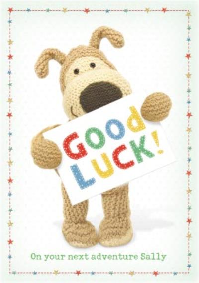 Boofle Good Luck Personalised Card