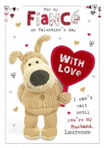 Boofle For My Fiancé Personalised Valentines Card