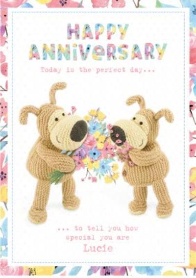 Boofle Happy Anniversary Personalised Text Card