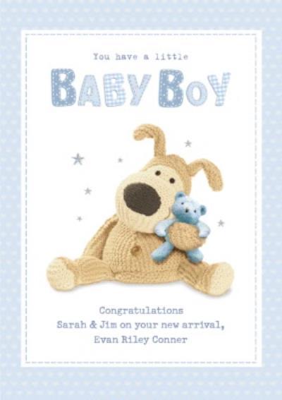 Cute New Baby Boy Boofle Card