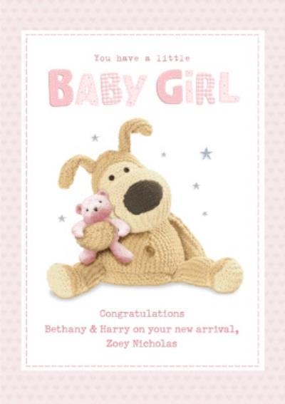 Cute New Baby Girl Boofle Card