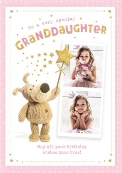 Cute Boofle Photo upload Card - To a very special Granddaughter