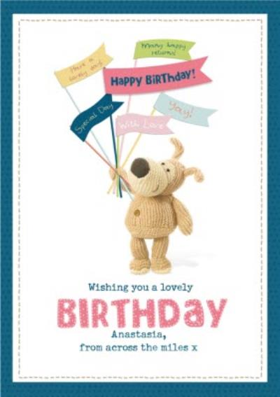 Cute across the miles Boofle Card - Wishing you a lovely Birthday