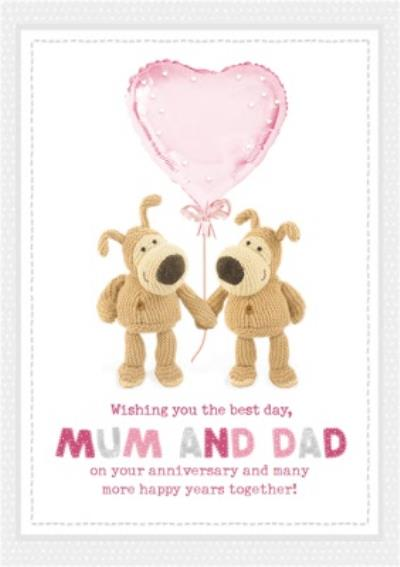 Boofle cute sentimental Mum and Dad Anniversary card