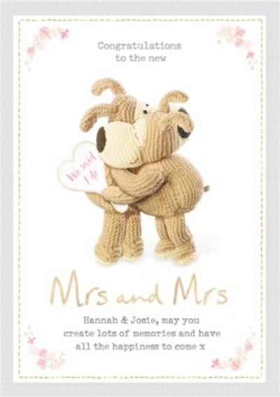 Boofle Sentimental Wedding Day Card Congratulations to the new Mr & Mrs